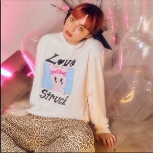 WC X Esther loves you lazy oaf bunny sweater